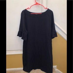 Talbots navy blue dress